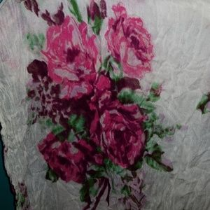 Betsey Johnson Accessories - Rose floral betsey Johnson scarf